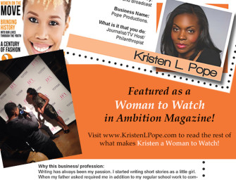 Kristen L. Pope is a Woman to Watch!