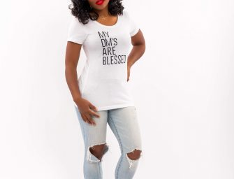 "Order your ""My DM's Are Blessed"" t-shirt now!"