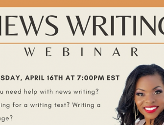 News Writing Webinar
